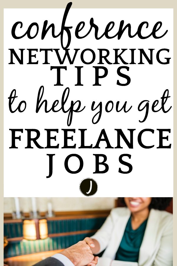 10 Conference Networking Tips To Help You Get Freelance Jobs woman shaking a man's hand over the table