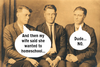 Dads React to Homeschooling
