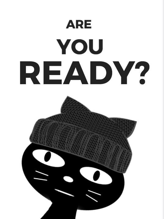 Ninja Kitty cartoon cat face